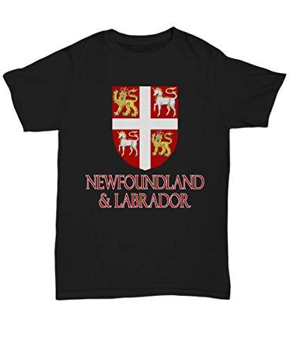 - Newfoundland and Labrador, Canada - Coat of Arms - Unisex Tee Black