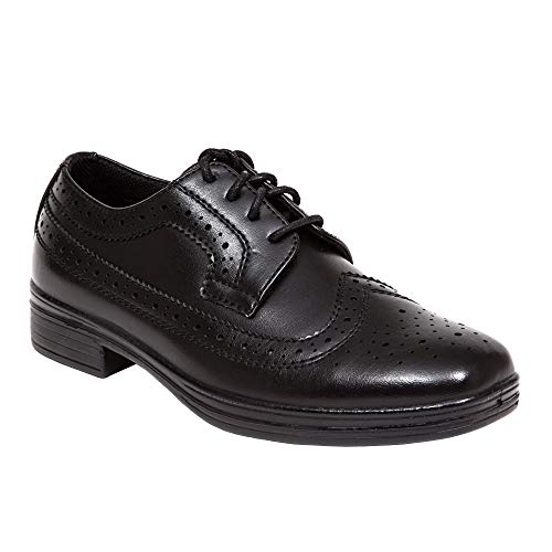 Deer Stags Ace Dress Wing-Tip Dress Comfort Oxford (Big Kid/Little Kid) Black