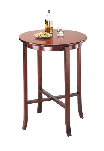 ACME 07195 Beautiful Oak Finish Wood Round Pub Bar for sale  Delivered anywhere in USA