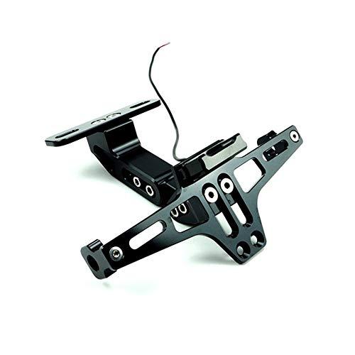 JesseBro76 Motorcycle Rear License Plate Holder Frame Indicator Lamp Accessories Black