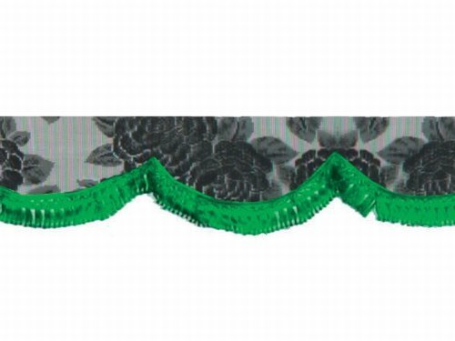 Lace front curtain 2200MM width Green 190-0411 by Mad Max