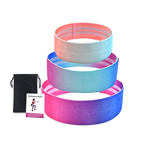 GZTLJ Resistance Exercise Bands Set for Legs and Butt,Fabric Workout Bands Resistance Loop Bands Anti Slip (2019 Upgraded)