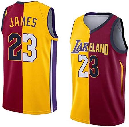 Hombre NBA Lakers/Cavs #23 James Ropa de Baloncesto: Amazon.es ...