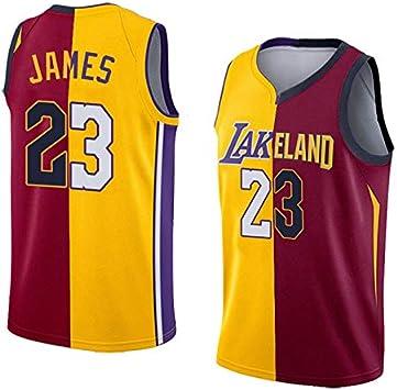 Hombre Ropa de Baloncesto NBA Lakers/Cavs #23 James Retro Camiseta ...