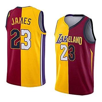 GRYUEN Hombre Ropa de Baloncesto NBA Cavs/Lakers #23 James Jersey ...