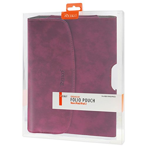 Reiko hp102 C-ipad 3PLRD orizzontale Horse pattern di custodia per Apple iPad 3 Plus – rosso