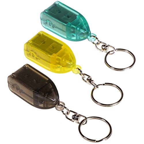 Travel Keychain Finger Nail Clipper Trimmer Mini Small Toe Nail Clippers Great for Purse Camping Car ()