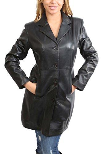 Classic 3/4 Length Leather Coats - 9