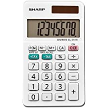 Sharp Calculators EL-244WB Business Calculator, White 2.125