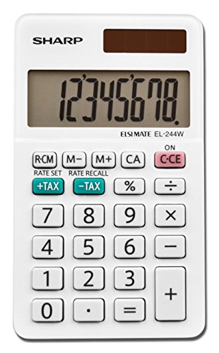 Sharp EL-244WB Business Calculator, White 2.125
