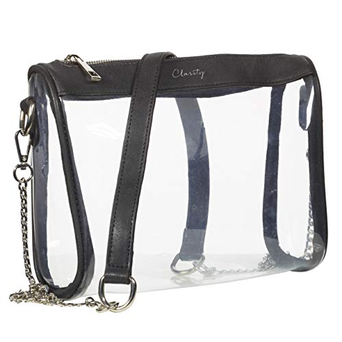 Nfl Sports Purse Bag (Clarity Handbags Zoe Clear Women's Handbag NFL, NCAA, NBA Clear Bag Policy Approved (Black) )
