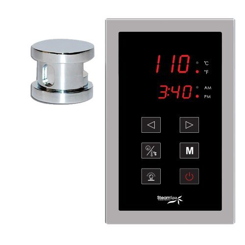 (Steam Spa OATPKCH Oasis Touch Panel Control Kit with Steam Head, Chrome)