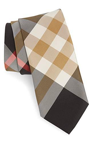 - New Authentic Burberry London Manston Black Multi New Check Skinny Silk Tie