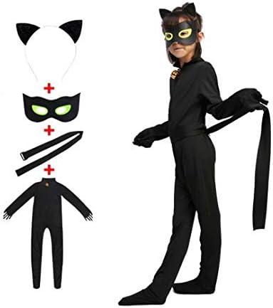 Black Cat Noir Costume Kids Cat Cosplay Jumpsuit Boys Girls Costume Black Cat Cosplay Costume