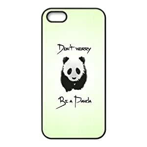be a panda iPhone 5 5s Cell Phone Case Black yyfD-207486