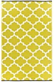 Fab Hab - Tangier - Céleri & blanc Intérieur Extérieur/tapis (120cm x 180cm)