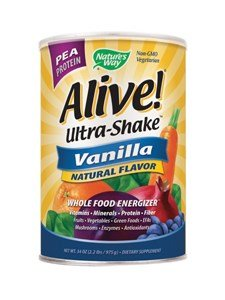 Nature's Way Alive Ultra-Shake Pea Protein Vanilla -- 34 oz - Alive Multivitamin Ultra Shake