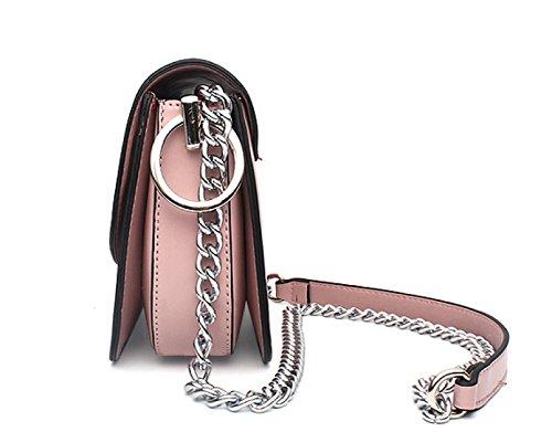 Mini Bolso De Hombro De Las Mujeres Universal PU Mensaje De Cuero Pequeños Bolsos Bolsa De Móvil Bolsa De Cuerpo De La Cruz Pink