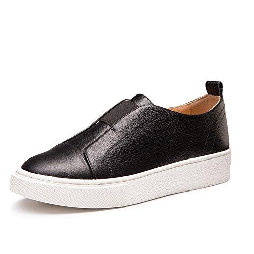 zapatos de moda/Zapatos de primavera/Zapatos casuales suela gruesa/Zapatos de cabeza/Escuela de aire Coreano Le Fu zapatos B