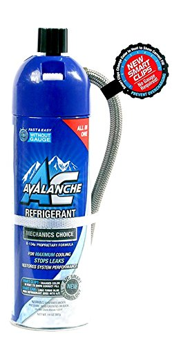 AVALANCHE AUTO AVL-122 A/C 134a Refrigerant -14oz With Re-Useable Recharge Hose by AC AVALANCHE