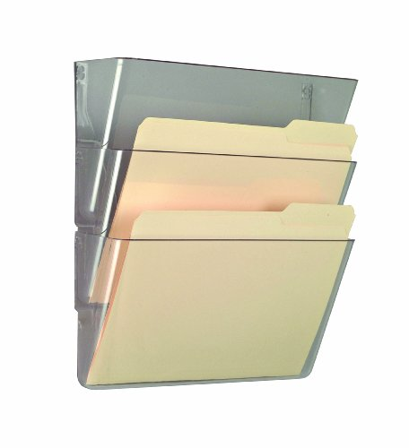 Officemate Wall Files, Letter/A4 Size, Clear, 3 Pack (Officemate Wall)