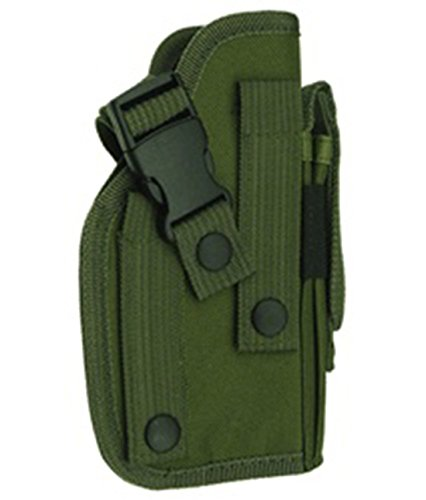 Ultimate Arms Gear OD Green MOLLE Ambidextrous Pistol Holder, Fits 1911 Handguns