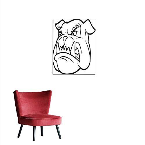 longbuyer Wall Paper Aggressive Bulldog Mural 20
