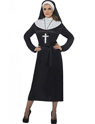 Nun Costume Headdress (Nun Adult Costume - Medium)