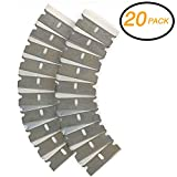 Emraw Razor Replacement Blade Industrial Razor Ultra Sharp Strong Single Edge Scraper Steel Blades for Scraping and Cutting Box Cutter and Glass Scraper Razor Blade (Pack of 20)