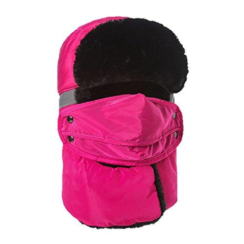 Unisex Máscara Bombardero Esquí De Caza Patinaje De Ear Flap Para HikingWindproof Sombrero Sombrero Sombreros Winter Cálido Esquí LightBrown Hombres De Invierno wq7axEBCnv