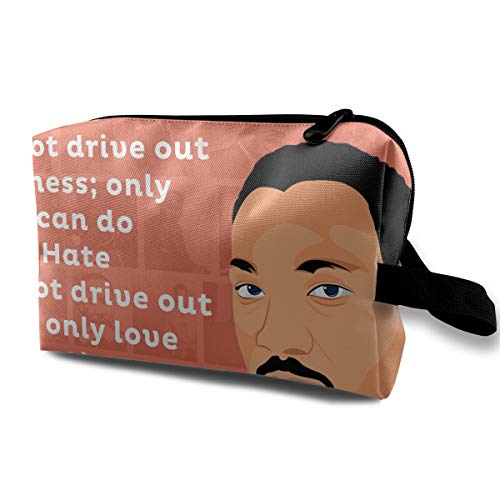 MLK Martin Luther King Speech Art Multi-function Travel Makeup Toiletry Coin Bag Case