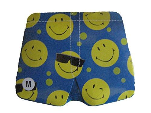 (Brabo Group Unisex Magic Boxer Shorts Smiley Face Blue (XL (Waist 42