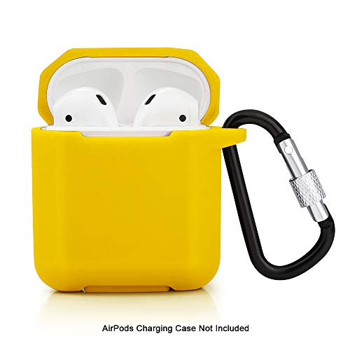 ZALU Compatible for AirPods case with Upgrade Keychain, Diamond Shape AirPods Case Cover Shockproof Holder Protective Skin for AirPods 2 & 1 [Front LED Not Visible] [Wireless Rechargeable](Yellow)