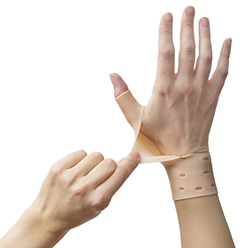 2 Breathable Gel Wrist & Thumb Support Braces for Right & Left Hand | Proven to Relieve Wrist & Thumb Pain Including Arthritis, Rheumatism, Carpal Tunnel | Soft, Comfortable & Light Weight by Excelyfe (Image #8)