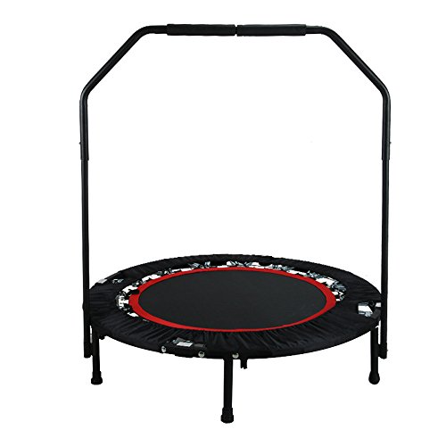 TOPQSC Trampoline ,Premium Trampoline Exercise Workout Cardio Training / Jumping with Safety Pad for Indoor Garden Workout Cardio Training Foldable by TOPQSC