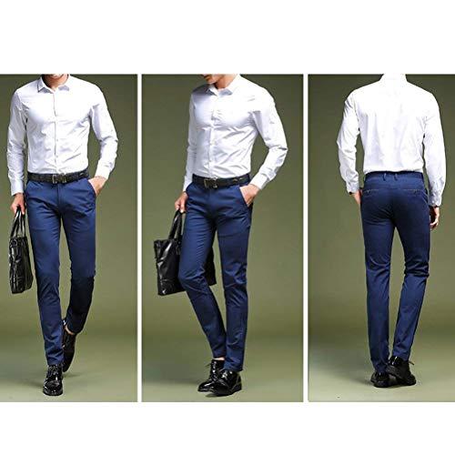 Travail Pantalon Regular Pantalons Slim Retro Hommes De Pour Décontracté Design Grau Chino Costume Classique Sport CRvPvq