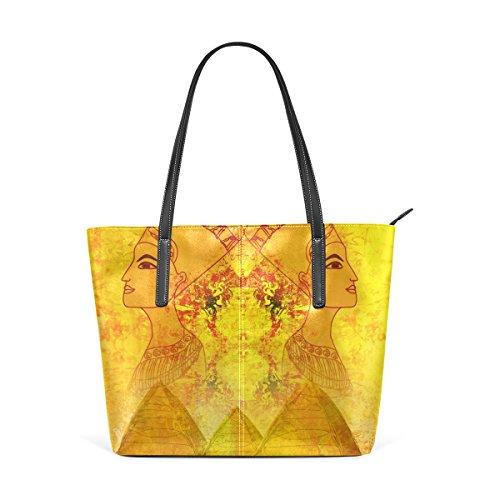 39534e1568fef1 Coosun altes Papier mit ägyptischer Königin PU Leder Schultertasche  Handtasche und Handtaschen Tasche für Frauen