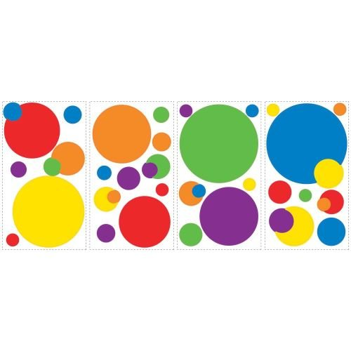 York-Wallcoverings-RMK1248SCS-RoomMates-Just-Dots-Primary-Peel-Stick-Wall-Deca