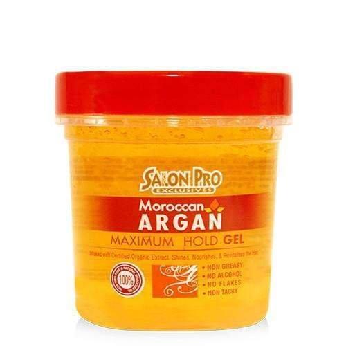 Salon Pro Moroccan Argan Maximum Hold Stylig Gel 16oz