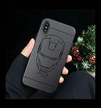84e95420646 Desconocido Funda para iPhone XR, Silicona Superheroes Batman Iron Man  Superman Capitan America Marvel DC Comics Dibujos Niños Carcasa Silicona  Negra Mate ...