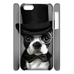 Cell phone 3D Bumper Plastic Case Of Cute Dog For iPhone 5C