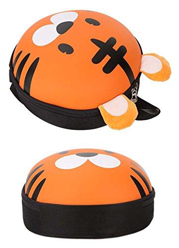 Huateng Kleinkind Schultasche Baby Mädchen Jungen Kindertier-nette Küken/Schwein/Tiger/Elch/Frosch-Karikatur-Muster-Rucksack-Ei-Shell-Rucksack Tiger Eierschale Gelb q650OGKNMY