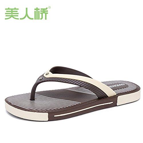Uomini casa per spina spiaggia il di a pesce donne marrone 42 per bagno da il estive libero coppia pantofole coperta tempo CWJDTXD leggeri Pantofole a che nuotano maschio e all'aperto e scarpe 1 0RHEEw