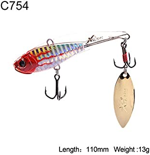 HATCHMATIC Uni Pêche Dur Lure 5 Tailles Sinking VIB Wobblers Souple Body Design avec Tour de Batte oon Aftificial Decoy Modèle 3520B: 110mm 13g C754