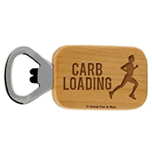 Gone For a Run Carb Loading Maple Bottle Opener