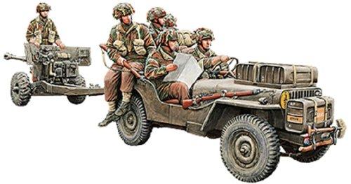 Bronco Models British 6 Person Anti-Tank Gun (Airborne) with 1/4 Ton Truck and Crew (1/35 Scale)