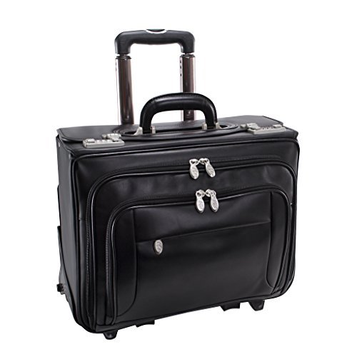 McKlein USA Sheridan Black 17'' Detachable-Wheeled Catalog Case 84665