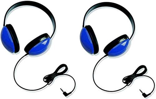 Califone 2800-BL Listening First Headphones for Classroom, Computer Labs Blue Set of 2