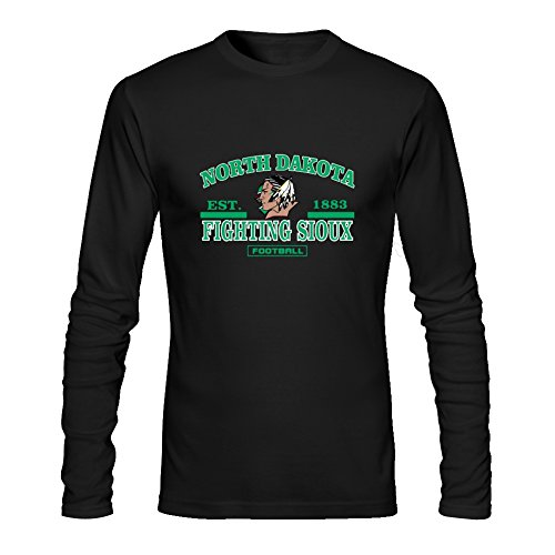 Diy Fighting Sioux Men's Tshirt Long Sleeve by Fangbai Liu S Black