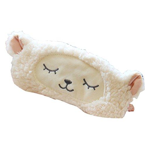 Deercon Cartoon Sheep Sleeping Eye Mask Snoring Blindfold Sleeping Shade Cotton Cover Blinder